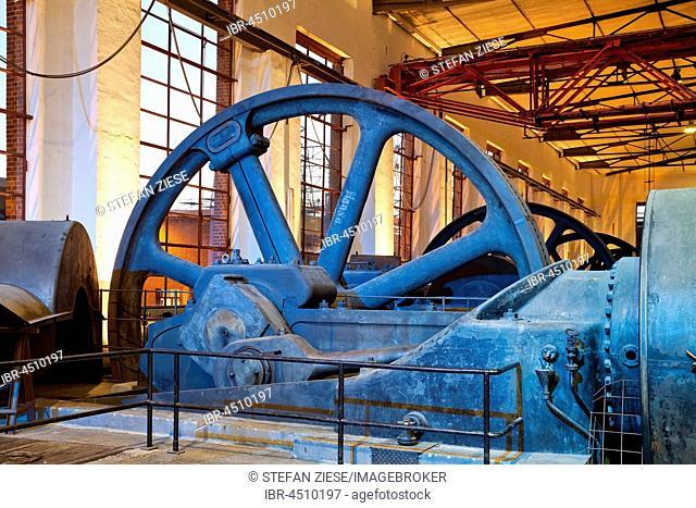 Compressor hall, Hansa coking plant, Dortmund, Ruhr district, North Rhine-Westphalia, Germany