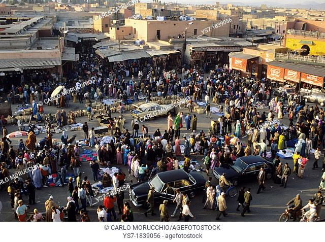 Jamaa el Fna is a square and market place in Marrakesh's medina, Africa
