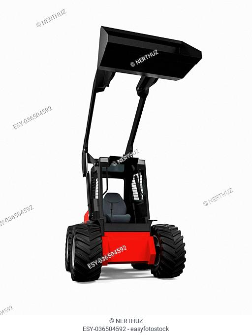 Tractor Loader isolated on white background. 3D render