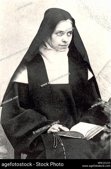 Portrait of Elisabeth of the Trinity (Élisabeth de la Trinité, born Élisabeth Catez) wearing her Carmelite habit