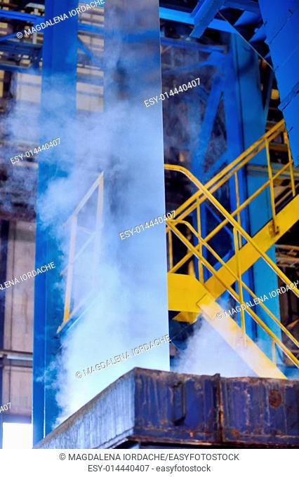making the zinc rolls of steel sheet