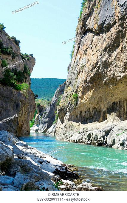 Lumbier gorge, located in Navarre (Spain), was carved by the Irati river in limestone