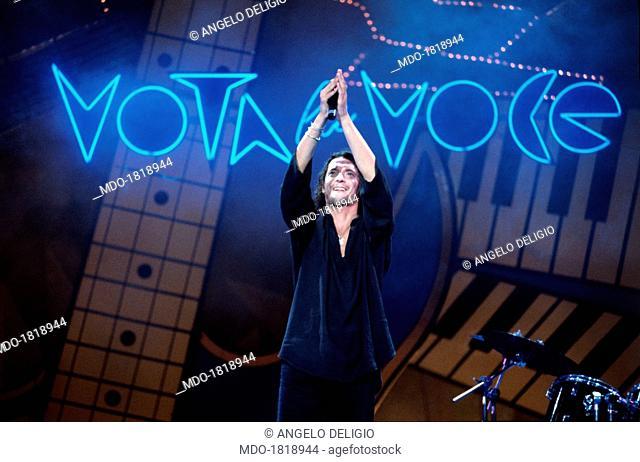 Italian singer-songwriter Biagio Antonacci performing at the Vota la voce Music Festival. Fiesole, 21st September 1993
