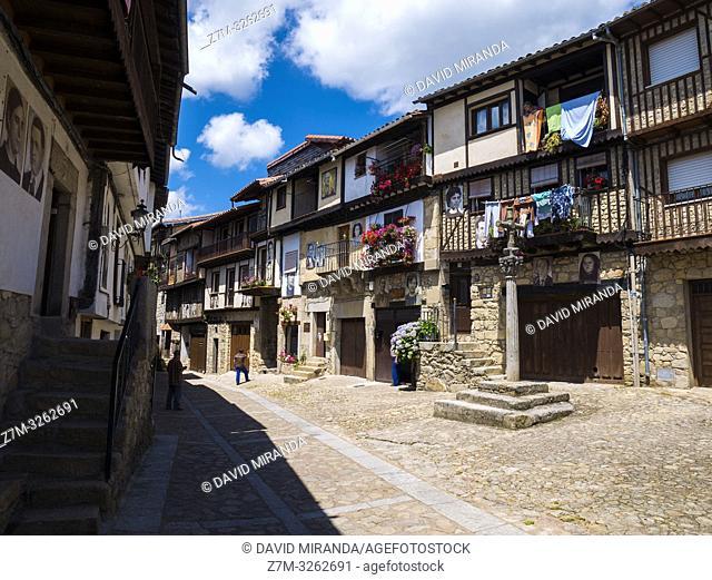 Arquitectura tradicional de Mogarraz. Sierra de Francia. Salamanca. Castilla León. España