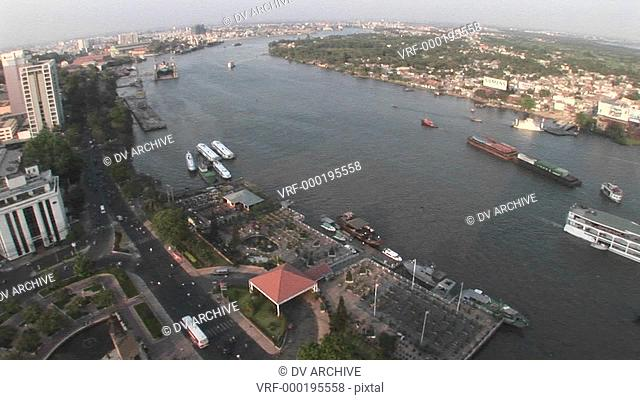 An aerial view of Ho Chi Minh City, Vietnam