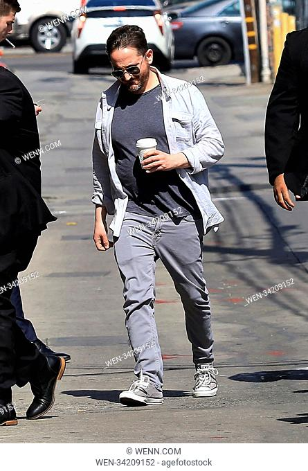 Celebrities arriving at the 'Jimmy Kimmel Live!' studios Featuring: Ben Falcone Where: Hollywood, California, United States When: 09 May 2018 Credit: WENN