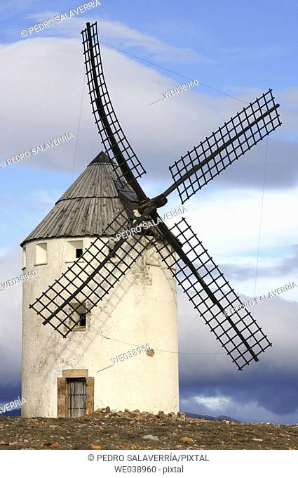 Windmill. Malanquilla. Zaragoza province. Aragón. Spain
