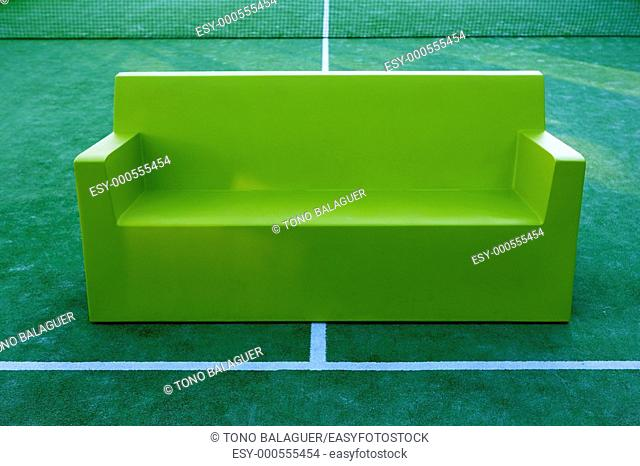 relax sport tennis paddle field green sofa