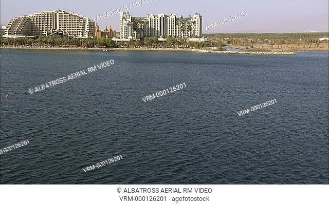 Aerial footage of Eilat Marina
