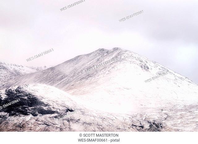 UK, Scotland, Glencoe, Rannoch Moor, Black Mount Mountain Range