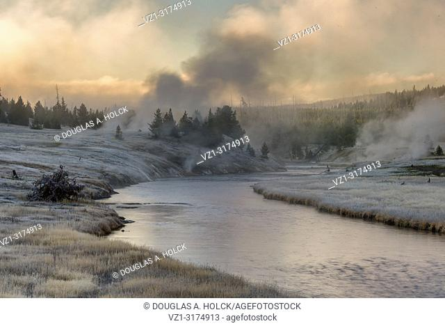 Fall Sunrise on Yellowstone National Park's Freehole River