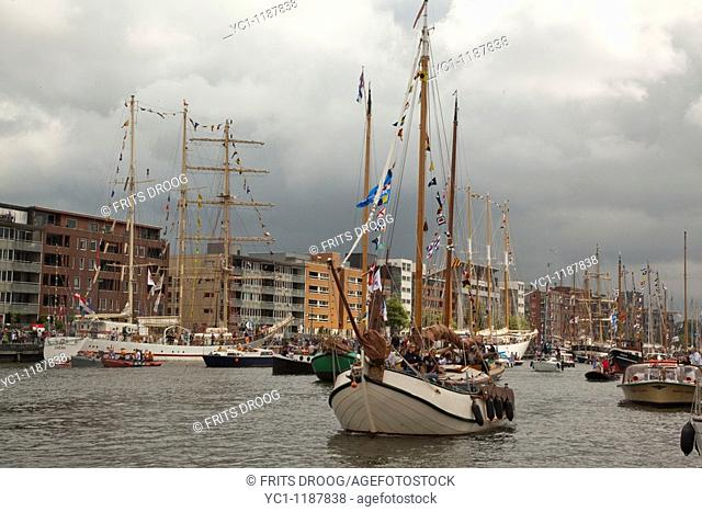 Sail Amsterdam 2010, boats and crowd in the harbour of Amsterdam, august 2010