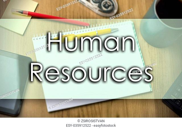 Human Resources - business concept with text
