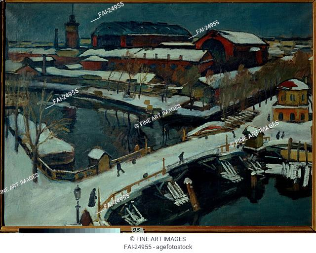 Winter landscape. Petrograd. Braz, Osip Emmanuilovich (1872-1936). Oil on canvas. Russian Painting, End of 19th - Early 20th cen. . 1920. Russia