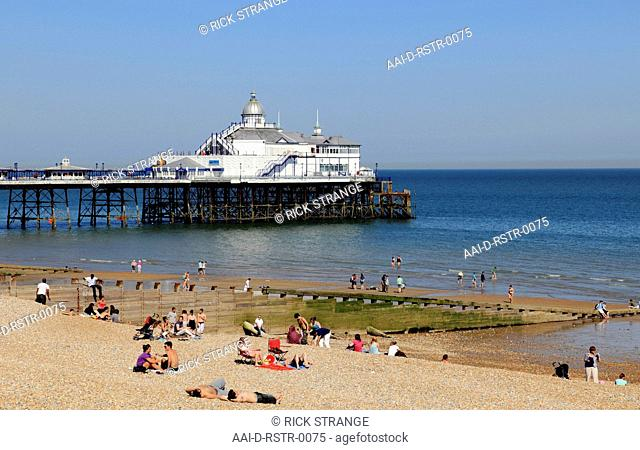 Eastbourne Beach & Pier, East Sussex, UK