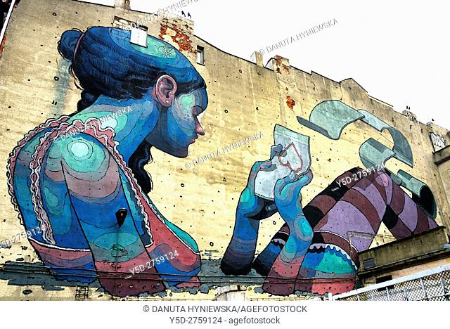 City of Lodz is known for more and more street art forms in the public space in the city centre, there is permanent exhibition composed of large format mural...