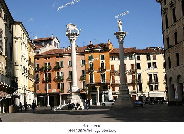 Italy, Vicenza, Old Town, Piazza dei Signori, facades, column, place, space
