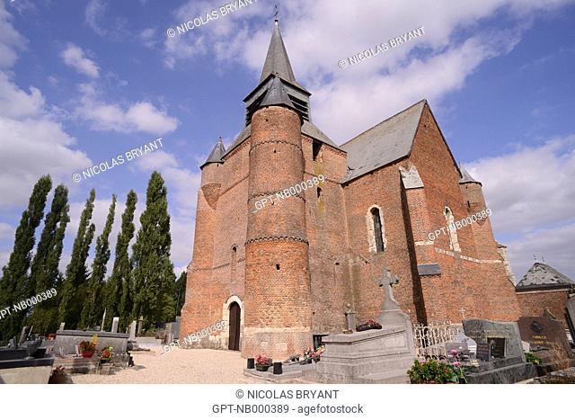 FORTIFIED CHURCH OF BURELLES, THIERACHE, AISNE, PICARDY