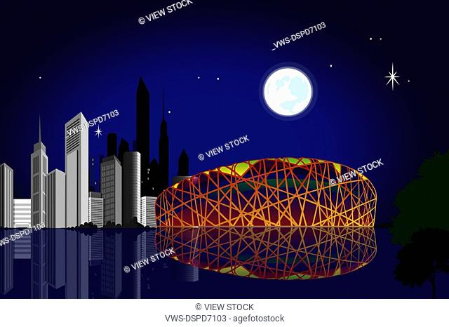 Olympics And Sports,Composite Illustration