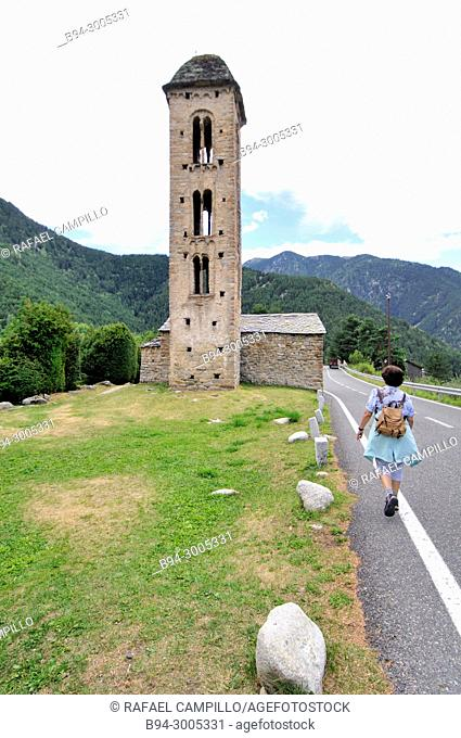 The Romanesque church of Sant Miquel d'Engolasters. Andorra. Europe