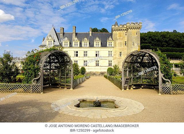 Villandry castle and gardens, Château de Villandry, Indre-et-Loire, Touraine, Loire Valley, France, Europe