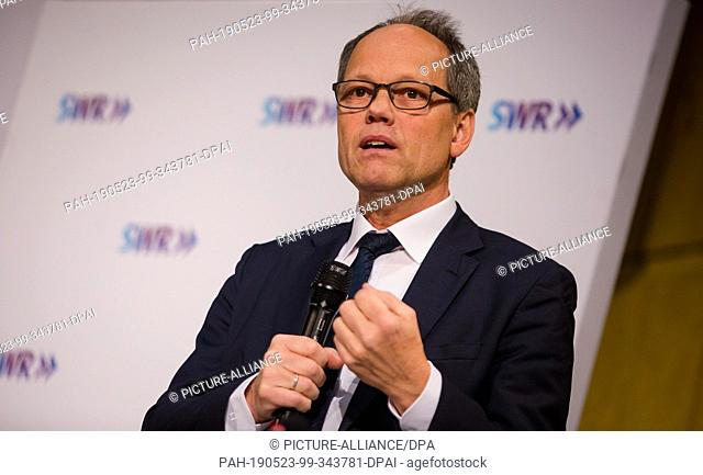 23 May 2019, Baden-Wuerttemberg, Stuttgart: Kai Gniffke, editor-in-chief of ARD-Aktuell, speaks at a public meeting of the Broadcasting Council and Board of...