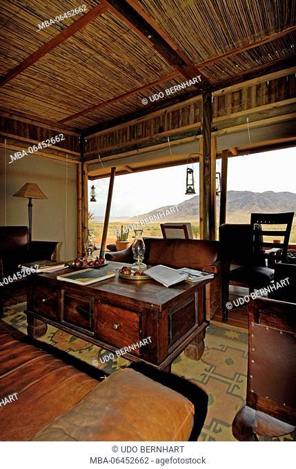 Africa, Namibia, NamibRand Nature Reserve, Wolwedane Dunes, camp
