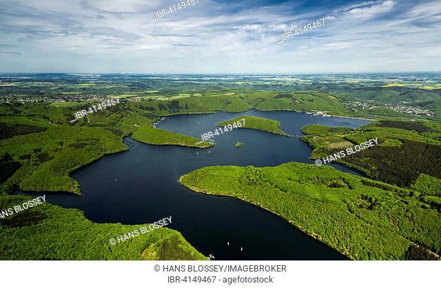 Rur Reservoir, Rur Dam, Simmerath, Eifel, North Rhine-Westphalia, Germany
