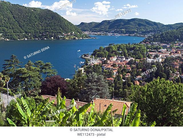 overview of Lake Como, Lombardy, Italy