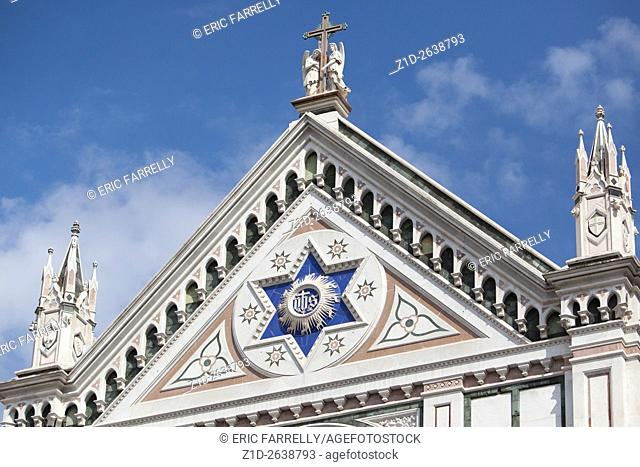 ITALY, FLORENCE, SANTA CROCE CHURCH, FACADE