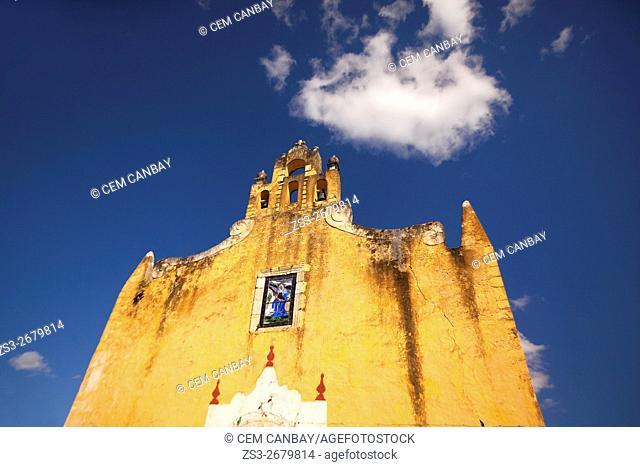 Santa Ana church in the town center, Valladolid, Yucatan Province, Mexico, Central America