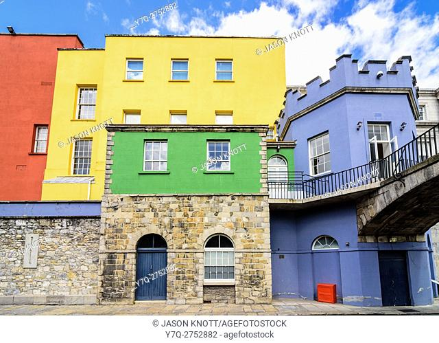 The brightly painted State Apartments of Dublin Castle, Dublin, Ireland