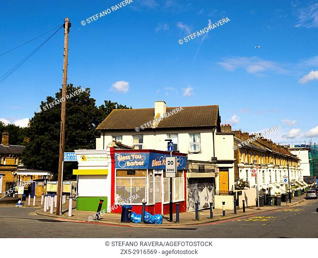 Residential homes near Catford train station - London, England