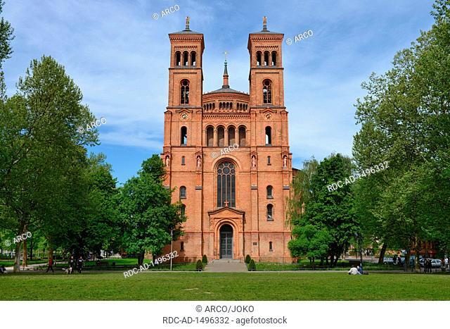 St.-Thomas-Kirche, Mariannenplatz, Kreuzberg, Berlin, Deutschland