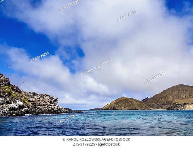 Landscape of Punta Pitt, San Cristobal or Chatham Island, Galapagos, Ecuador
