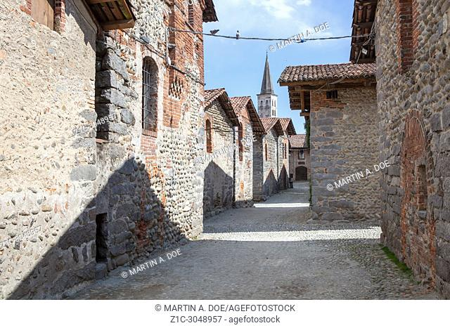 The Medieval village of Ricetto di Candelo, Italy