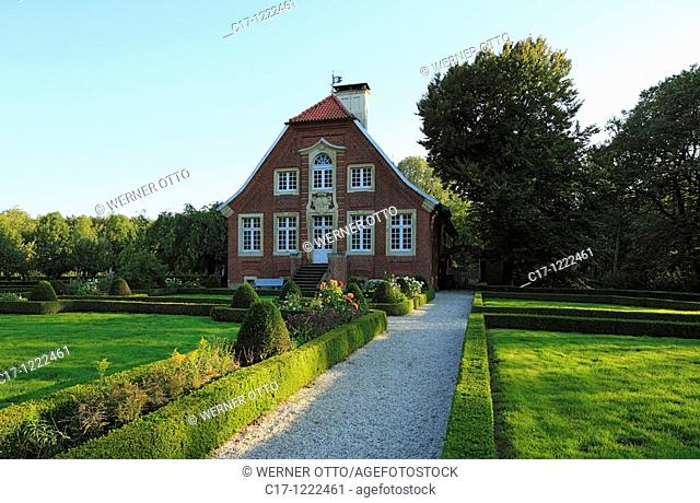 Germany, Muenster, Westphalia, Muensterland, North Rhine-Westphalia, Muenster-Nienberge, manor house Rueschhaus, aristocratic estate, gardens, park