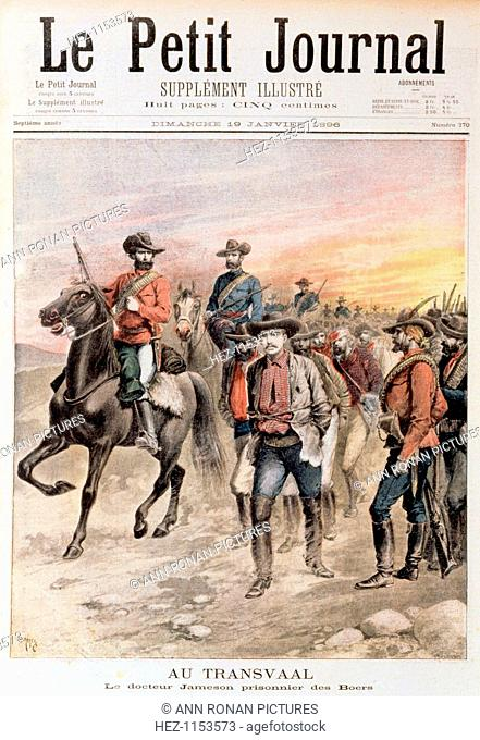 Leander Starr Jameson taken prisoner after the failure of the Jameson Raid, South Africa, 1896. The aim of the Jameson Raid was to initiate rebellion in...