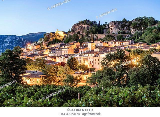 Village of Aiguines, Lac de Sainte Croix, Provence, France France, Provence, Var