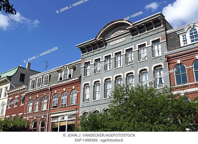 Examples of 19th Century architecture in downtown Bangor, Maine, USA  Bangor is the 3rd largest city in the state and the retail