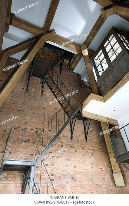 St. Pancras Chambers CLOCK TOWER APARTMENT SHOWING STAIR ACCESS TO WINDING ROOM ©ÊGrant Smith 2009