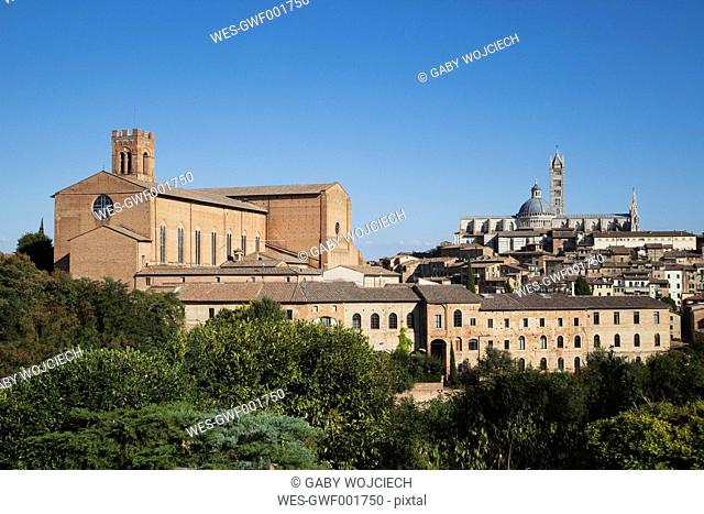 Europe, Italy, Siena, View of Basilica San Domenica