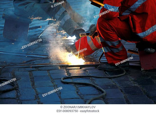 welding macro close up