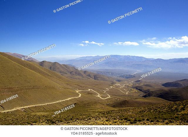 Landscape on the provincial route 73, this route is the road to the Serrania del Hornocal also known as hill of the fourteen colors