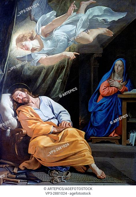 Philippe de Champaigne . The Dream of Saint Joseph. 1636. National Gallery - London