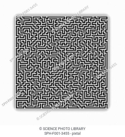 Maze, computer artwork