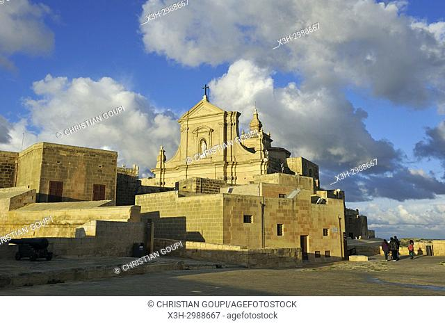 Cathedral of the Assumption in the Cittadella of Victoria (Rabat), Gozo Island, Malta, Mediterranean Sea, Southern Europe