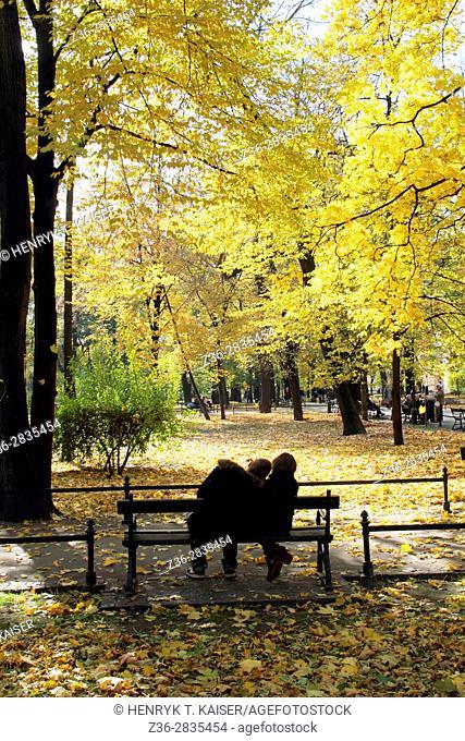 Planty, walkaway park around Old Town, Krakow, Poland