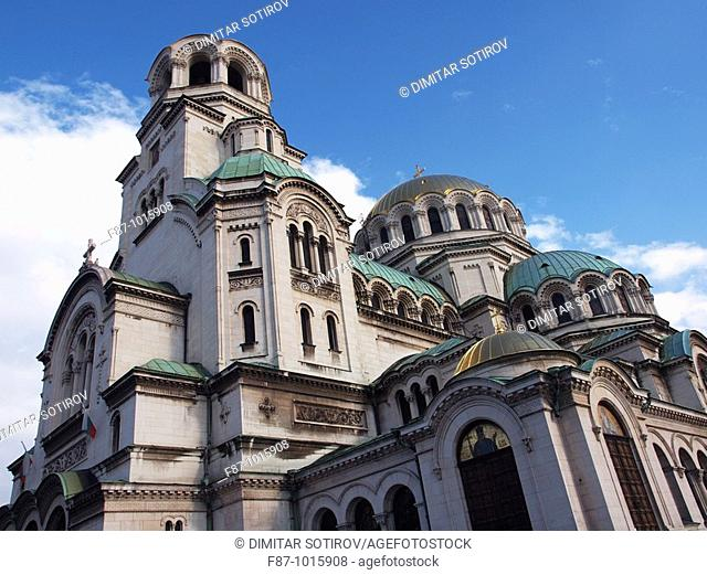 The gold-domed St. Alexander Nevsky Cathedral was built in the early 20th century in memory of the Russian soldiers, who died in the Russo-Turkish War