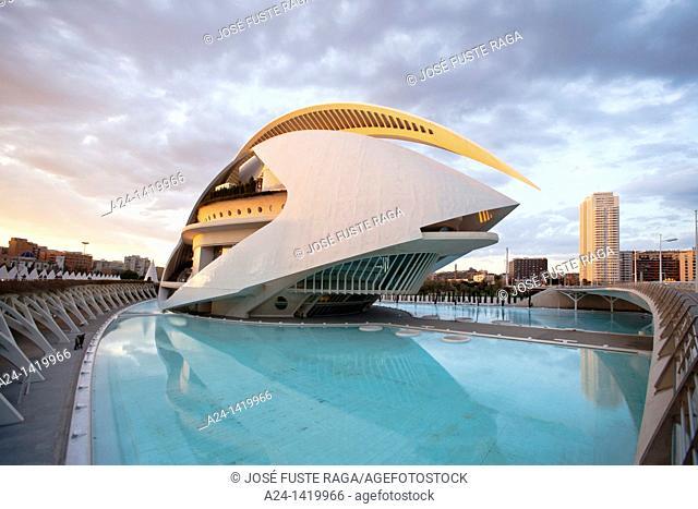 Spain, Valencia Comunity, Valencia City, The City of Arts and Science built by Calatrava,  Auditorium